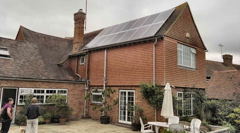 Solar Panels Slate Roof